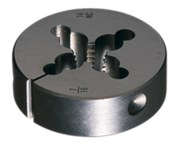 Greenfield Threading 382 1/4-20 UNC Round Adjustable Die - Right Hand Cut - 0.375 in Thickness - Carbon Steel - 401979