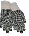 Red Steer 1139 Large Cotton/Synthetic Work Gloves - PVC Dotted Palm & Fingers Coating