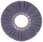 Weiler Silicon Carbide Wheel Brush 0.035 in Bristle Diameter 180 Grit - Arbor Attachment - 10 in Outside Diameter - 3 1/4 in Center Hole Size - 20661
