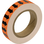 Brady 109940 Black on Orange Pipe Banding Tape - 1 in Width - 30 yd Length - B-302