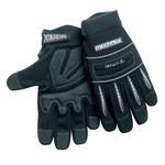 Chicago Protective Apparel Mechflex Black Large Synthetic Leather Mechanic's Gloves - Neoprene Knuckles Coating - MX-52 LG
