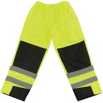 PIP 318 Black/High-Visibility Lime Large Polyurethane on Polyester High-Visibility Pants - 5 Pockets - 45.7 in Outseam Length - 616314-32841