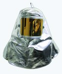 Chicago Protective Apparel Gold (Film) Lexan Aluminized Para Aramid Heat & Fire-Resistant Hood - With Window - 7 in Width - 11 in Height - 0647-AKV