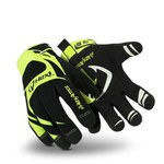 HexArmor Hex1 2120 Black/Yellow 9 Synthetic Leather Work Gloves - Silicone Palm Coating - 2120 SZ 9