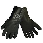 Global Glove 712R Black XL Jersey/PVC Work Gloves - 12 in Length - Rough Finish - 712R/XL