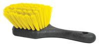 Weiler Green Works 423 Utility Scrub Brush - Bamboo Handle - Yellow Polyethylene Terephthalate Bristle - Foam Block - 42375