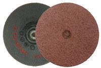 Weiler Trim-Kut Aluminum Oxide Deburring Disc - Medium Grade - Arbor Attachment - 3 in Width x 3 in Length - 3 in3 in Diameter - 3 in Outside Diameter - 59305