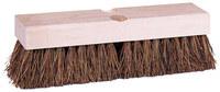 Weiler 444 Rectangular Scrub Brush - Hardwood Handle - Palmyra Bristle - Hardwood Block - 9 in Overall Length - 44428
