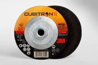 3M Cubitron II COW Ceramic Aluminum Oxide Cutoff Wheel - Type 27 (Depressed Center) - 60 Grit Medium Grade - 4 1/2 in Diameter - 0.045 in Thickness - 66530