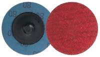 Weiler Saber Tooth Coated Ceramic Quick Change Disc - Cloth Backing - 80 Grit - Medium - 2 in Diameter - 60172