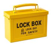 Brady Yellow Group Lockout Box 65672 - 88 mm Width - 150 mm Height - 754473-65672