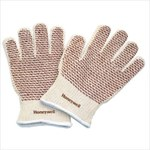 North Grip N 7147 Brown/White Universal Cotton Work Gloves - Nitrile Palm Only Coating - 51/7147