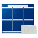 Brady Polystyrene Foam Core Rectangle Blue Communication Boards - 37 1/4 in Width x 34 1/4 in Height - Self-Adhesive - 114613