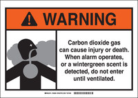 Brady B-401 Polystyrene Rectangle White Chemical Warning Sign - 10 in Width x 7 in Height - 106033