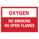 Brady B-120 Fiberglass Reinforced Polyester Rectangle No Smoking Sign - 14 in Width x 10 in Height - 73418