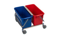 Contec 5 gal Blue, Red Bucket Cart System - 2769-KIT