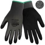 Global Glove Tsunami Grip 500G Black/Gray 9 Nylon Work Gloves - Nitrile Full Coverage Coating - 500G/9