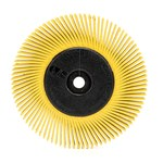 3M Scotch-Brite Ceramic BB-ZB Radial Bristle Brush - Medium Grade - 1 in Center Hole - 6 in Outside Diameter - Disc Width: 1/2 in - 27606