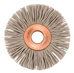 Weiler Aluminum Oxide Wheel Brush 0.018 in Bristle Diameter 500 Grit - Arbor Attachment - 1 3/8 in Outside Diameter - 1/4 in Center Hole Size - 16310