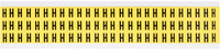 Brady 34 Series 3410-H Black on Yellow Vinyl Cloth Letter Label - Indoor - 11/32 in Width - 1/2 in Height - 3/8 in Character Height - B-498