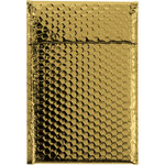 Shipping Supply Gold Glamour Bubble Mailers - 11 in x 7.5 in - SHP-3579