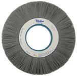 Weiler Silicon Carbide Wheel Brush 0.04 in Bristle Diameter 80 Grit - Arbor Attachment - 10 in Outside Diameter - 5 1/4 in Center Hole Size - 83550