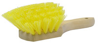 Weiler 440 Utility Scrub Brush - Yellow Polypropylene Bristle - Hardwood Block - 8 in Overall Length - 44013