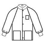 Kimberly-Clark White Large SMS Work Jacket - 3 Pockets - 036000-10072
