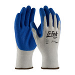 PIP G-Tek 39-1310 Blue/Gray X-Small Cotton/Polyester Work Gloves - Latex Palm & Fingers Coating - 10.5 in Length - 39-1310/XS