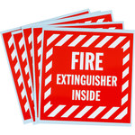 Brady SV088E Vinyl Fire Extinguisher Label - 47175