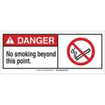 Brady B-120 Fiberglass Rectangle White No Smoking Sign - 17 in Width x 7 in Height - 143772