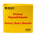 Brady Red on Yellow MSDS & GHS Data Sheet Binder - SAFETY DATA SHEETS - English/French - 754473-70694