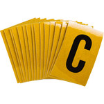 Brady Bradylite 5920-C Black on Yellow Letter Label - Outdoor - 1 in Width - 1 1/2 in Height - 1 in Character Height - B-997