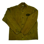 PIP Ironcat 7005 Yellow Large Leather Heat-Resistant Jacket - 3 Pockets - Fits 26 in Chest - 30 in Length - 662909-003737