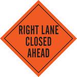 Brady Mesh Diamond Orange Road Construction Sign - 48 in Width x 48 in Height - 57005