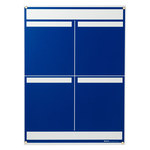 Brady Polystyrene Foam Core Rectangle Blue Communication Boards - 25 in Width x 34 1/4 in Height - Self-Adhesive - 114611