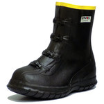 Servus 7362 Black 9 Waterproof & Rain Overboots/Overshoes - Metatarsal Guard Protection - 10 in Height - Rubber Upper and Rubber Sole - 7362 SZ 9