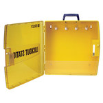 Brady Yellow Polypropylene Lockout Device Station - 17 in Width - 17 in Height - 754473-03470