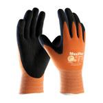 PIP MaxiFlex Ultimate 34-8014 Black/Orange Large Lycra/Nylon Work Gloves - EN 388 1 Cut Resistance - Nitrile Palm & Fingers Coating - 8.7 in Length - 34-8014/L