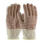 PIP 43-502 Red/White Small Cotton/Nitrile Hot Mill Glove - 10 in Length - 43-502S