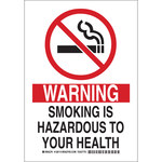 Brady B-555 Aluminum Rectangle White Health Hazard Sign - 7 in Width x 10 in Height - 128112