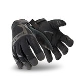 HexArmor Hex1 2120 Black 9 Synthetic Leather Work Gloves - Silicone Palm Coating - 2120-BLK SZ 9