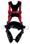 Protecta PRO Red Medium/Large Vest-Style Shoulder, Back, Leg Padding Body Harness - Polyester Webbing - 648250-17443