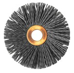 Weiler Silicon Carbide Wheel Brush 0.035 in Bristle Diameter 180 Grit - Arbor Attachment - 3 in Outside Diameter - 1/2 in Center Hole Size - 29088