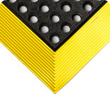 Wearwell Industrial WorkSafe 476 Black/Yellow Rubber Anti-Fatigue Mat - 3 ft Width - 4 ft Length - 715411-00985