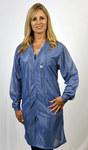 Tech Wear Large Blue V-Neck ESD / Anti-Static Lab Coat - VOC-23-L