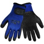 Global Glove Vise Gripster 303RV Black/Blue Large Cotton/Polyester Work Gloves - Rubber Palm Only Coating - 303RV/9