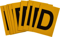Brady Bradylite 5920-D Black on Yellow Letter Label - Outdoor - 1 in Width - 1 1/2 in Height - 1 in Character Height - B-997