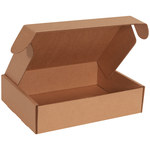 Shipping Supply Kraft Literature Mailers - 9 in x 6 1/4 in x 2 in - SHP-13562