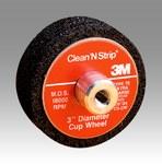 3M Scotch-Brite CS-UC Silicon Carbide Wheel Brush Very Coarse Grade - Threaded Arbor Attachment - 3 in Outside Diameter - 04151